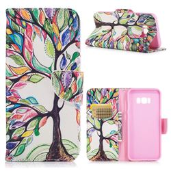 The Tree of Life Leather Wallet Case for Samsung Galaxy S8 Plus S8+