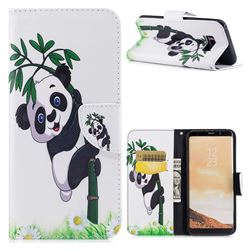 Bamboo Panda Leather Wallet Case for Samsung Galaxy S8 Plus S8+
