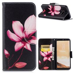 Lotus Flower Leather Wallet Case for Samsung Galaxy S8 Plus S8+