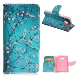 Blue Plum Leather Wallet Case for Samsung Galaxy A3 2016 A310
