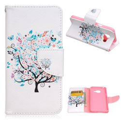 Colorful Tree Leather Wallet Case for Samsung Galaxy A3 2016 A310