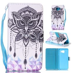 Owl Wind Chimes Leather Wallet Phone Case for Samsung Galaxy A3 2016 A310