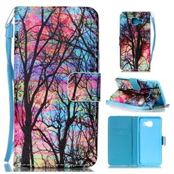 Color Tree Leather Wallet Phone Case for Samsung Galaxy A3 2016 A310