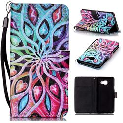 Spreading Flowers Leather Wallet Phone Case for Samsung Galaxy A3 2016 A310
