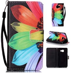 Colorful Sunflower Leather Wallet Phone Case for Samsung Galaxy A3 2016 A310