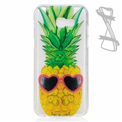 Cute Pineapple Super Clear Soft TPU Back Cover for Samsung Galaxy A3 2017 A320