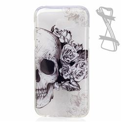 Skull Rose Super Clear Soft TPU Back Cover for Samsung Galaxy A3 2017 A320