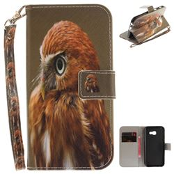 Young Eagle Hand Strap Leather Wallet Case for Samsung Galaxy A3 2017 A320