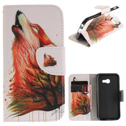 Color Wolf PU Leather Wallet Case for Samsung Galaxy A3 2017 A320