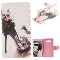 High Heels PU Leather Wallet Case for Samsung Galaxy A5 2015 A500