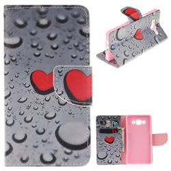 Heart Raindrop PU Leather Wallet Case for Samsung Galaxy A5 2015 A500