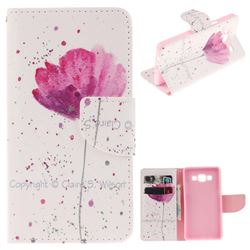 Purple Orchid PU Leather Wallet Case for Samsung Galaxy A5 2015 A500