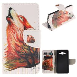 Color Wolf PU Leather Wallet Case for Samsung Galaxy A5 2015 A500