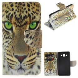 Yellow Tiger PU Leather Wallet Case for Samsung Galaxy A5 2015 A500