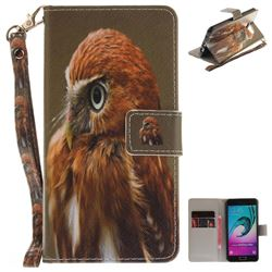 Young Eagle Hand Strap Leather Wallet Case for Samsung Galaxy A5 2016 A510