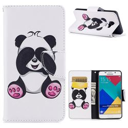 Lovely Panda Leather Wallet Case for Samsung Galaxy A5 2016 A510