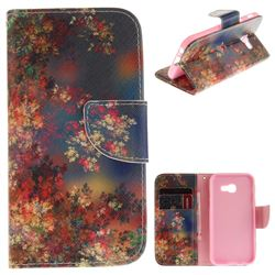 Colored Flowers PU Leather Wallet Case for Samsung Galaxy A5 2017 A520