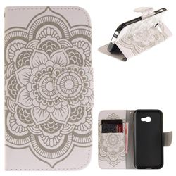 White Flowers PU Leather Wallet Case for Samsung Galaxy A5 2017 A520