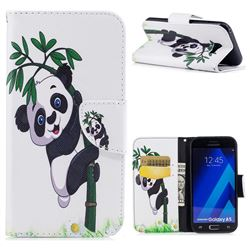Bamboo Panda Leather Wallet Case for Samsung Galaxy A5 2017 A520