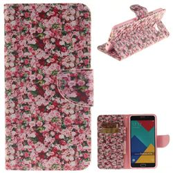 Intensive Floral PU Leather Wallet Case for Samsung Galaxy A7 2016 A710
