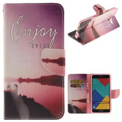Seaside Scenery PU Leather Wallet Case for Samsung Galaxy A7 2016 A710