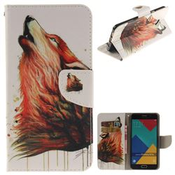 Color Wolf PU Leather Wallet Case for Samsung Galaxy A7 2016 A710