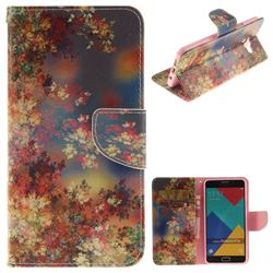 Colored Flowers PU Leather Wallet Case for Samsung Galaxy A7 2016 A710