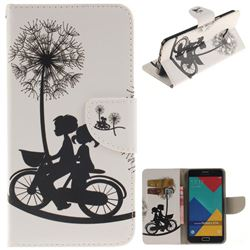 Cycling Dandelion PU Leather Wallet Case for Samsung Galaxy A7 2016 A710