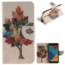 Colored Tree PU Leather Wallet Case for Samsung Galaxy A7 2016 A710