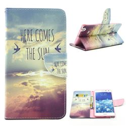 The Sunrise Leather Wallet Case for Samsung Galaxy Note Edge N915 N915V N915A