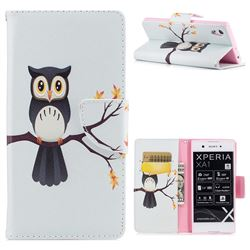 Owl on Tree Leather Wallet Case for Sony Xperia XA1