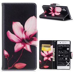 Lotus Flower Leather Wallet Case for Sony Xperia XA1