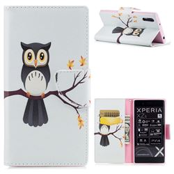 Owl on Tree Leather Wallet Case for Sony Xperia XZ