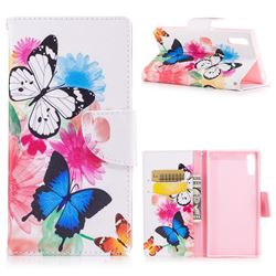 Vivid Flying Butterflies Leather Wallet Case for Sony Xperia XZs