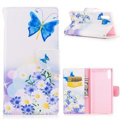 Butterflies Flowers Leather Wallet Case for Sony Xperia XZs
