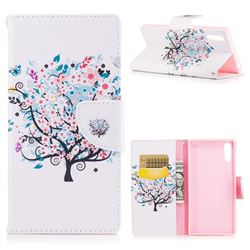 Colorful Tree Leather Wallet Case for Sony Xperia XZs