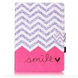 Waves Smile Folio Flip Stand Leather Wallet Case for Samsung Galaxy Tab S2 9.7 T810 T815 T819 T813N