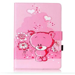 Tiny Pink Bear Folio Flip Stand Leather Wallet Case for Samsung Galaxy Tab S2 9.7 T810 T815 T819 T813N