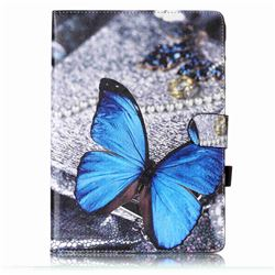 Blue Butterfly Folio Flip Stand Leather Wallet Case for Samsung Galaxy Tab S2 9.7 T810 T815 T819 T813N