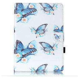 Flying Blue Butterflies Folio Flip Stand Leather Wallet Case for Samsung Galaxy Tab S2 9.7 T810 T815 T819 T813N