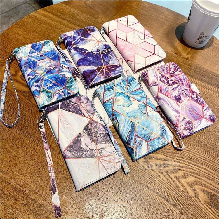 stitching marble leather wallet case cover from Guuds