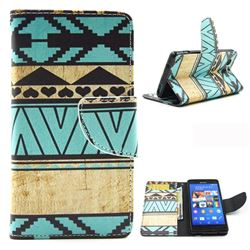 Folk Style Leather Wallet Case for Sony Xperia Z3 Compact Mini D5803 M55w
