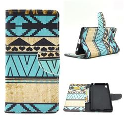 Folk Style Leather Wallet Case for Sony Xperia Z4