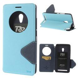 Roar Korea Diary Circle View Flip Cover for ZenFone 6 (A600CG) - BabyBlue