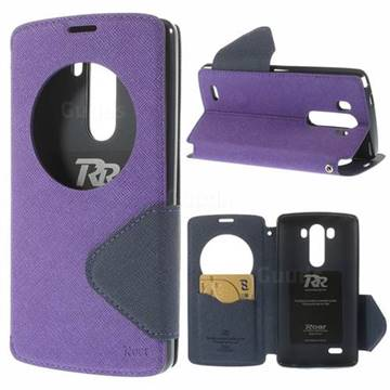 lg flip phone purple. roar korea fancy diary quick circle leather flip cover for lg g3 d850 ls990 - purple lg phone