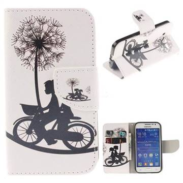 Cycling Dandelion PU Leather Wallet Case for Samsung Galaxy Core Prime G360