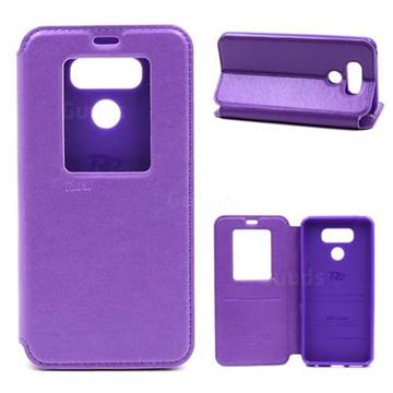 lg flip phone purple. roar korea noble view leather flip cover for lg g6 - purple lg phone