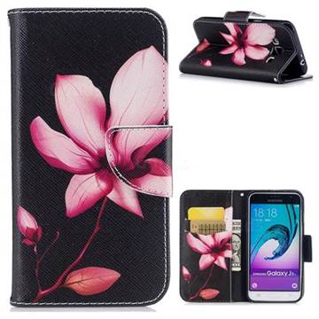 Lotus Flower Leather Wallet Case for Samsung Galaxy J3 2016 J320
