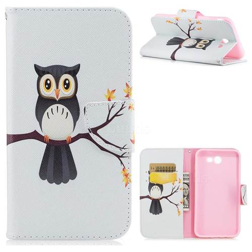 Owl on Tree Leather Wallet Case for Samsung Galaxy J7 2017 J730