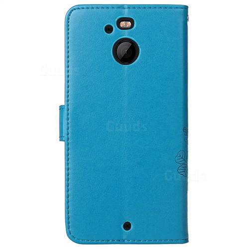 htc bolt phone case. embossing imprint four-leaf clover leather wallet case for htc 10 evo / bolt htc phone c